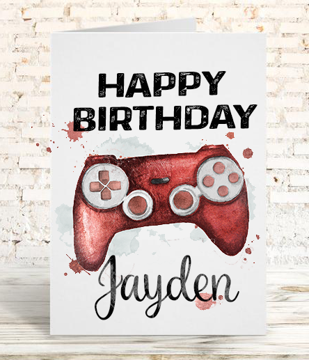 Xbox Controller Birthday Card