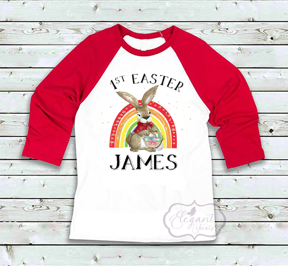 First Easter Rabbit Rainbow Long Sleeve Top