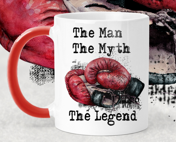 Boxing Glove Man, Myth, Legend Mug