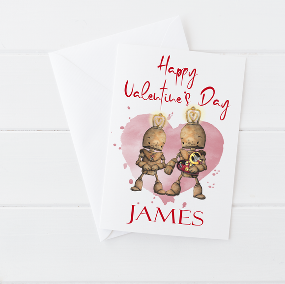 Robot Happy Valentine's Day Card