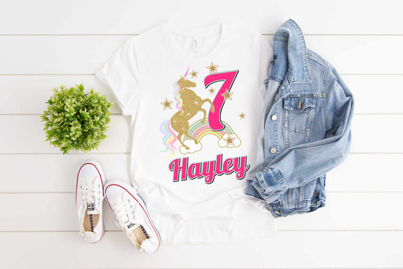 Children's Unicorn Birthday T-Shirt