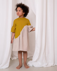 ELLIE dress ochre/beige