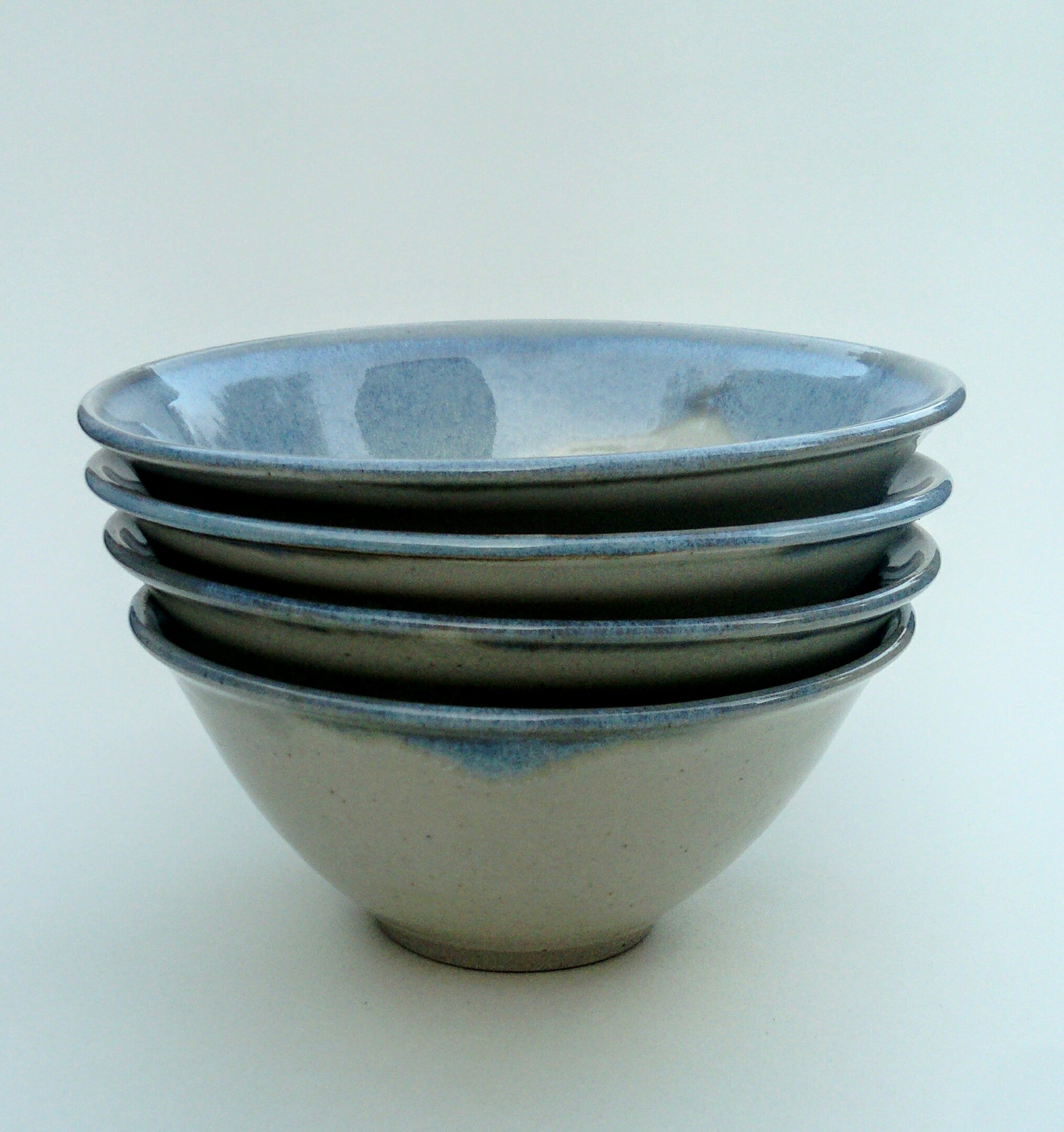 Soup/breakfast bowls (general purpose). Blue and white. (sold individually)
