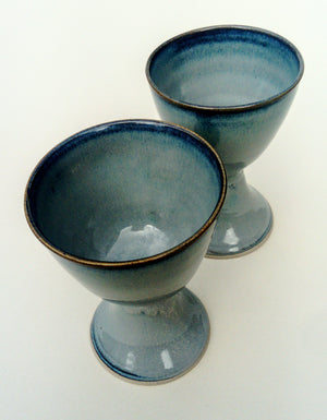 Wine goblets. Blue aurora. Free UK & Irl. Delivery.