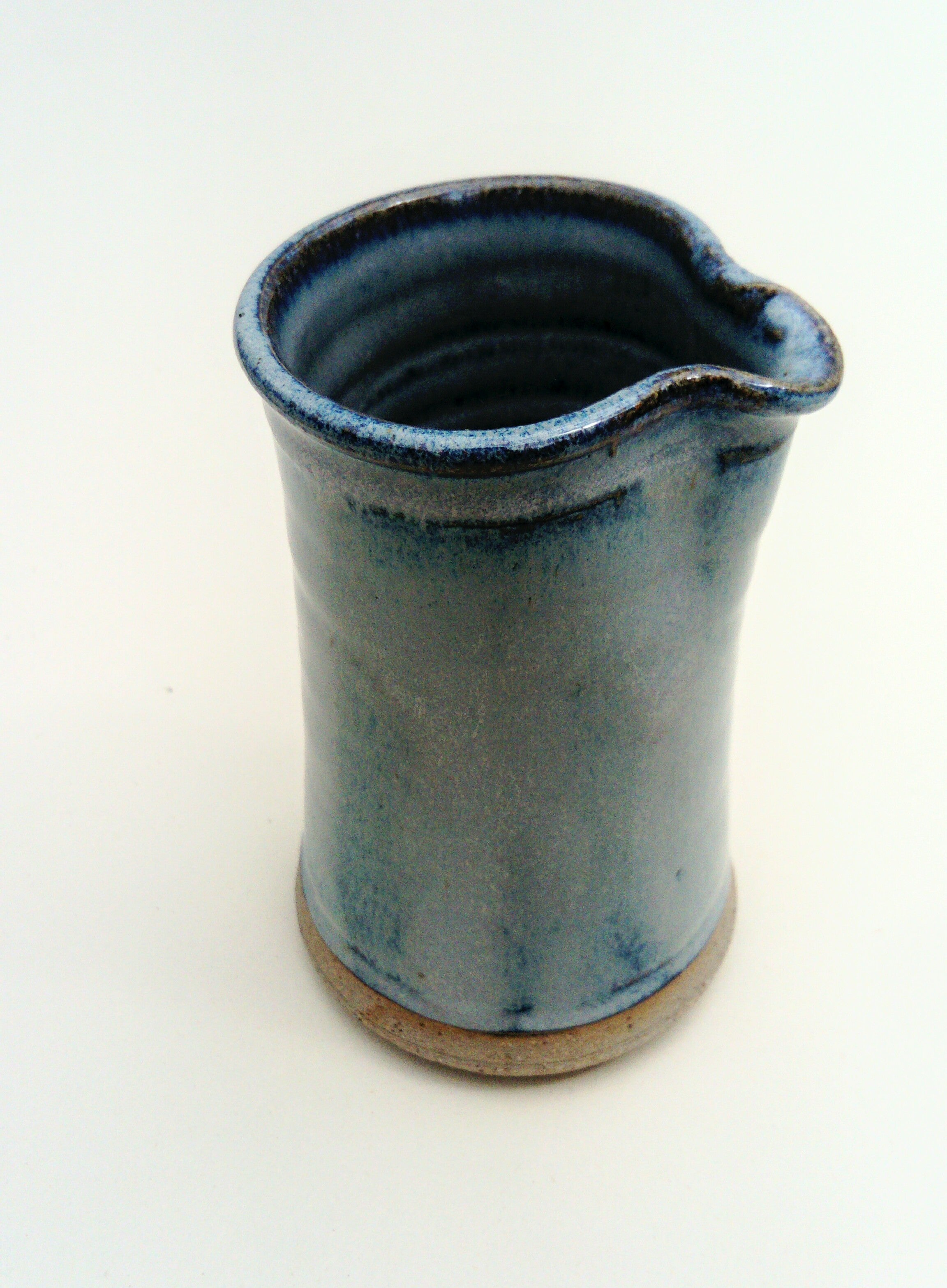 Cream/ milk pourer, jug. Blue aurora.