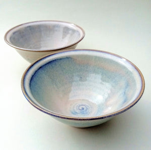 Set of two soup/ breakfast general purpose bowls. Sunset strand.  Free delivery*.