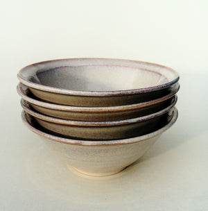 Hand thrown soup/ breakfast bowl (general purpose) sold individually. Sunset strand.