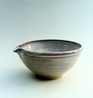 Hand thrown mixing bowl, meduim. Sunset strand..