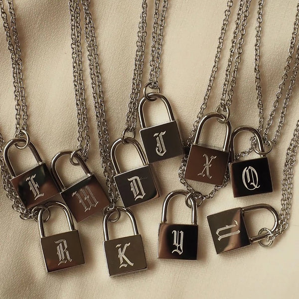 Collier Initiale Padlock