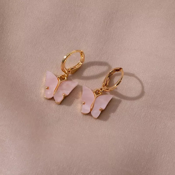 Boucles d'oreilles Butterfly Roses