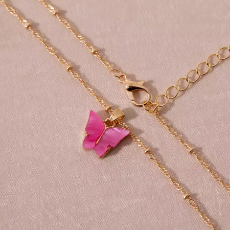 Collier Butterfly Violet