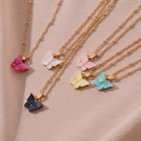 Collier Butterfly Bleu