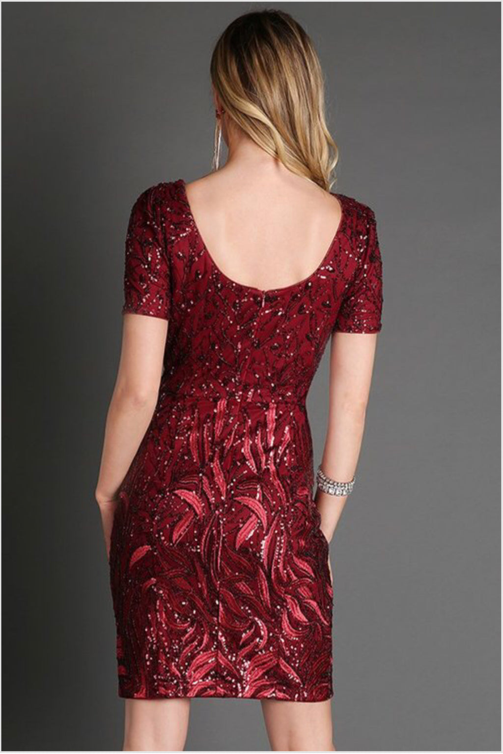 burgandy dress