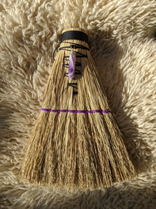 Hawk Tail Broom with Amethyst