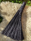 Black Turkey Wing Broom with Crystal
