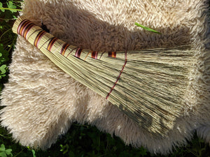 Earthy Brown Turkey Wing Style Broom