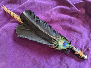 Amethyst-Tipped & Copper Feather Wand