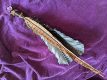 Load image into Gallery viewer, Amethyst-Tipped & Copper Feather Wand
