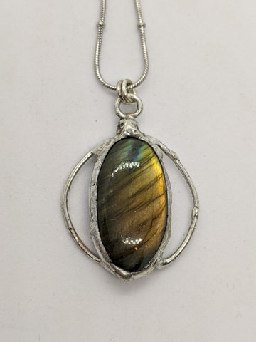 Labradorite with Circle