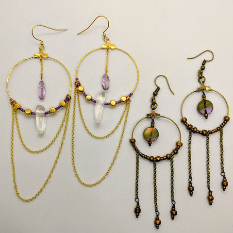 Beading Hoops with Chain - Jan. 31st 4-5 pm PST