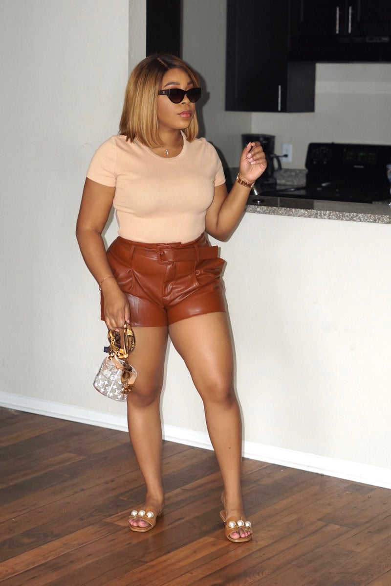 Fall Leather Shorts