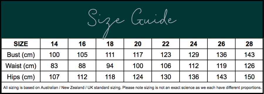 Size Chart Size Guide