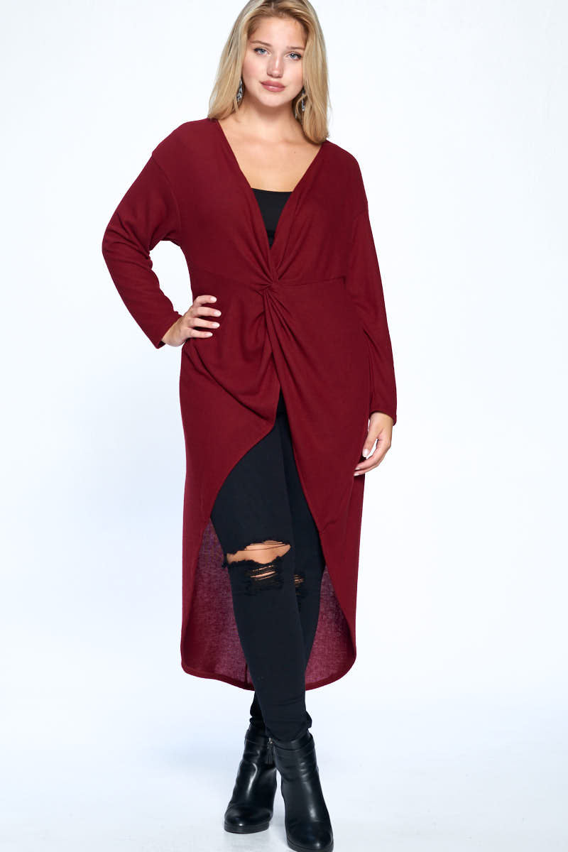 Hi Low Top - Burgundy - Curvy Clothes Australia - Afterpay Laybuy & Humm Online