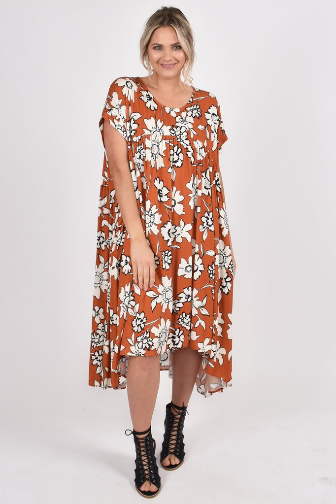 Neve Opulent Dress in Maple Wildflower - AUS 18 - 26