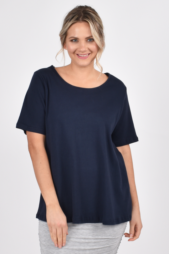 T-Shirt In French Navy - AU 16 - 20