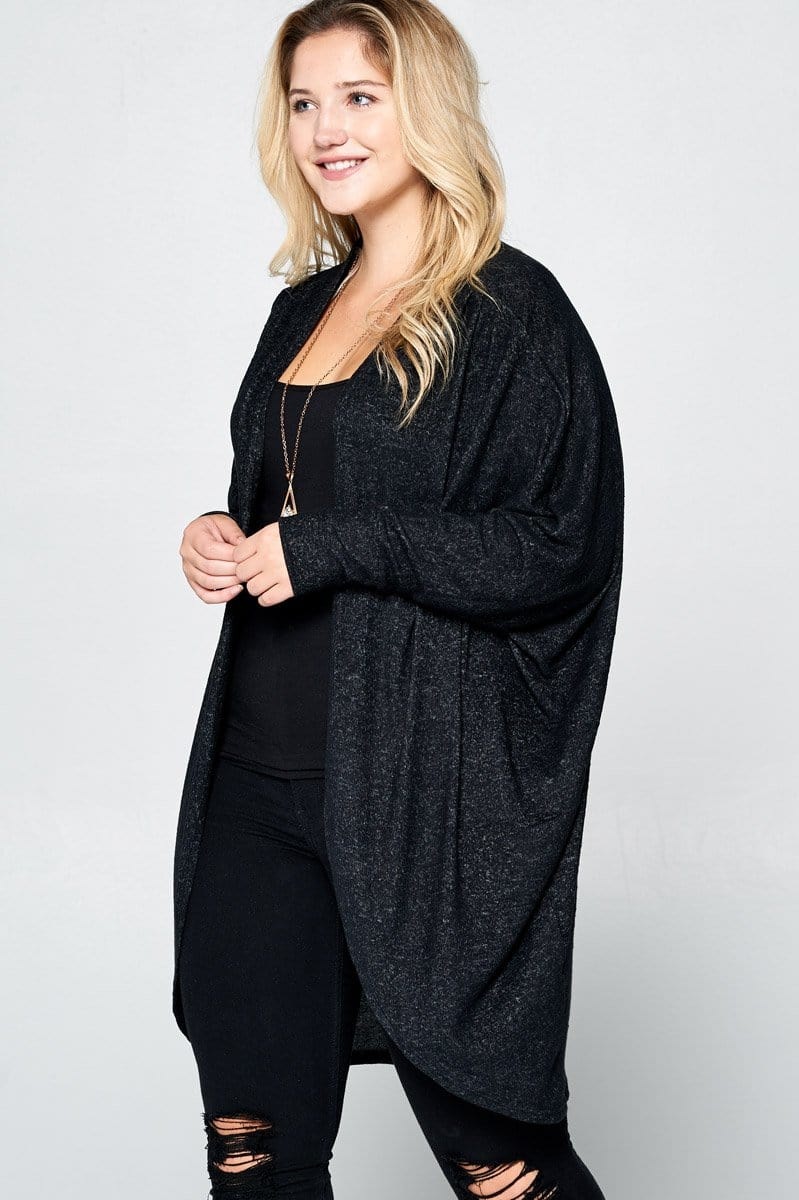 Black Curve Cardigan - Curvy Clothes Australia - Afterpay Laybuy & Humm Online