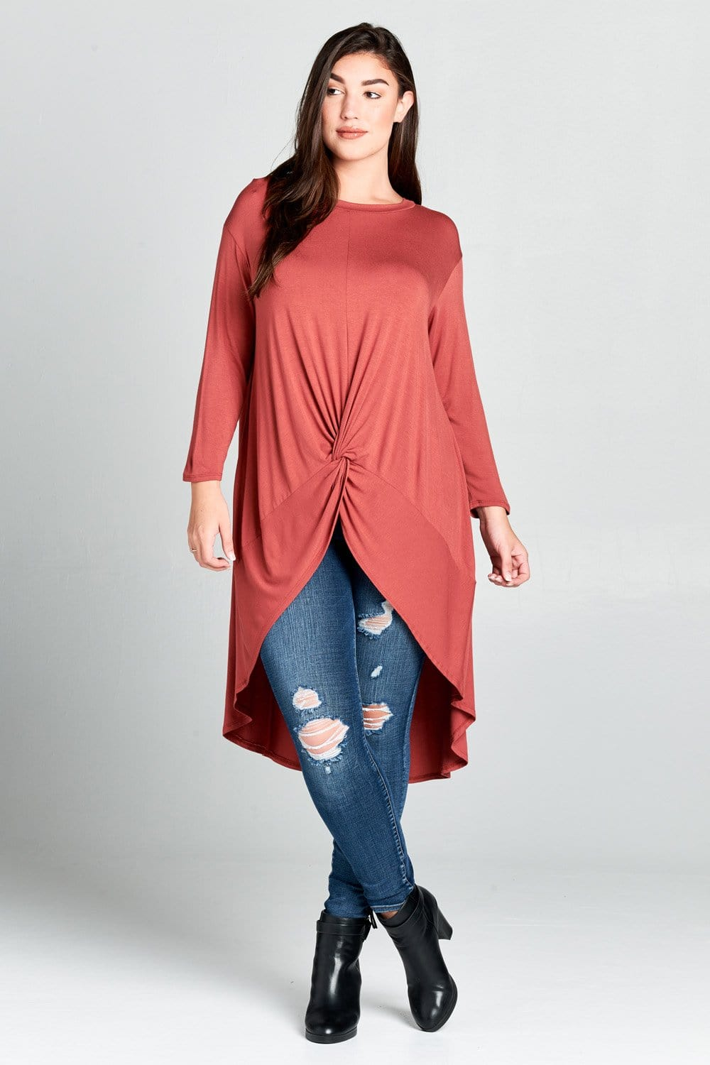 Farrah Marsala Top - Curvy Clothes Australia - Afterpay Laybuy & Humm Online
