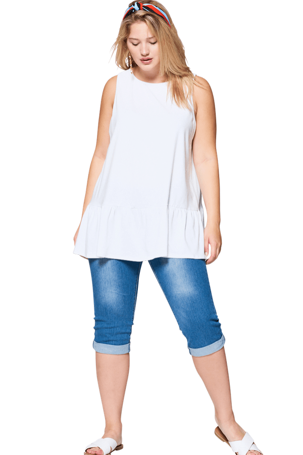 White Summer Top - Curvy Clothes Australia - Afterpay Laybuy & Humm Online
