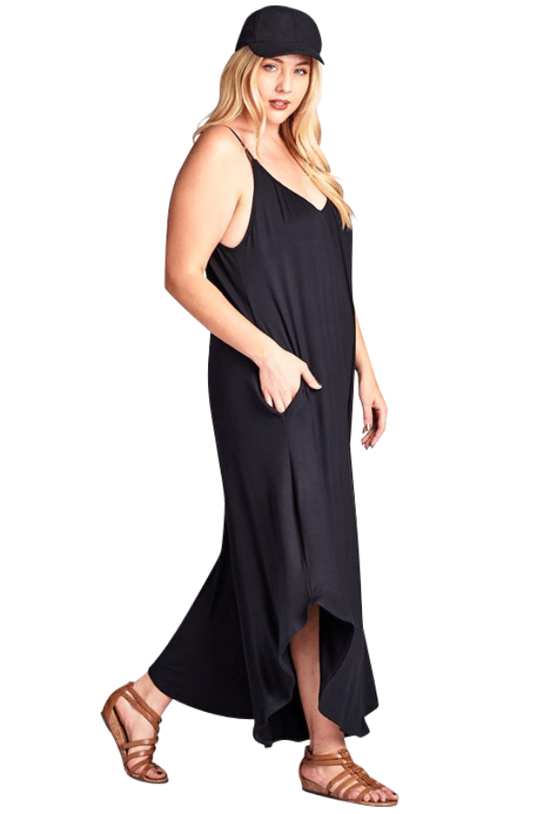 Black Curvy Jumpsuit - Emerald Curve
