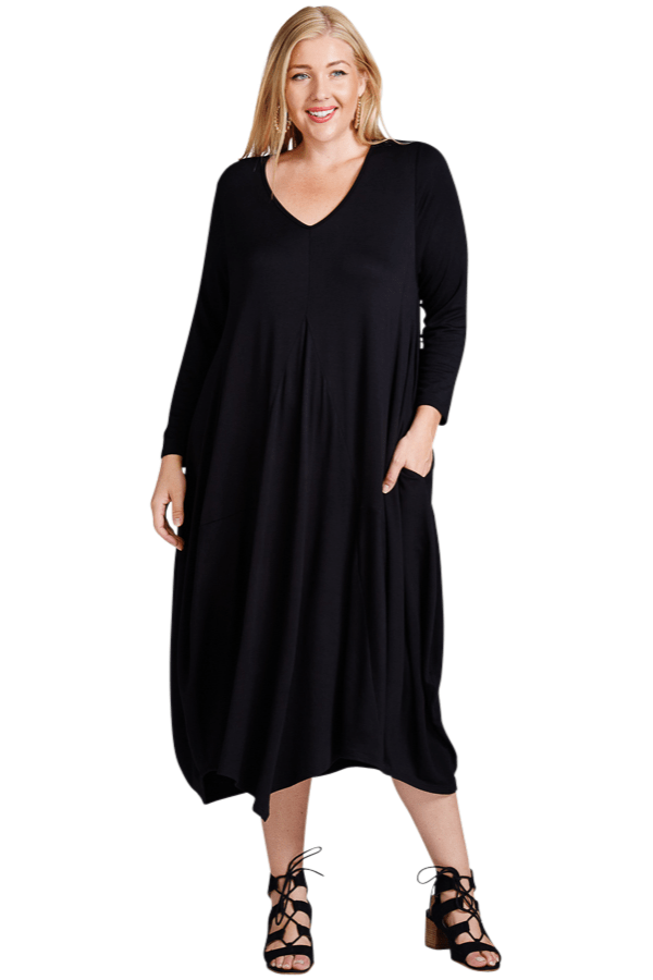 Curvy Dress - Black - Curvy Clothes Australia - Afterpay Laybuy & Humm Online