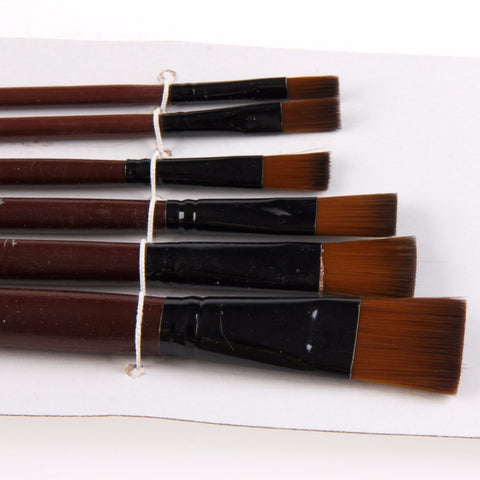 Square Tip Brushes 6 Pack