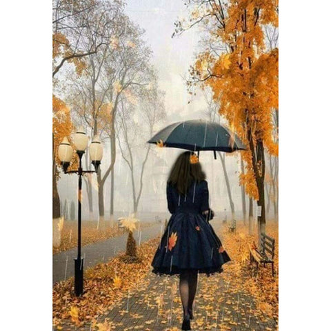 Walking In The Rain Diamond Painting Kit