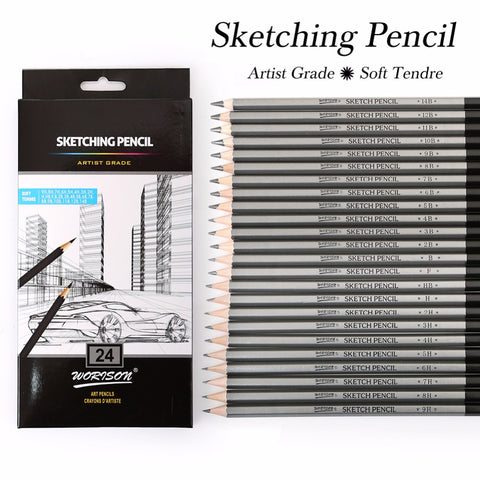 9H-14B Sketching Pencils 12/24 Pack