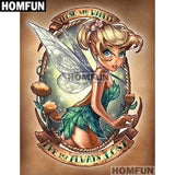 "HOMFUN Square Round Drill 5D Diamond Painting Environmental Crafts Full Diamond Embroidery ""Cartoon princess"" Home decor"