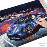 HUACAN 5D DIY Diamond Painting Car Landscape Home Decoration Embroidery Picture Handcraft Art Kits Lover Gift