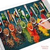 HUACAN 5D DIY Diamond Painting Kitchen Landscape Full Drill Square Home Decoration Embroidery Picture Art Kits