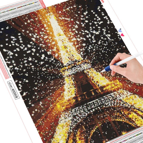 HUACAN 5D Diamond Painting Full Square Eiffel Tower Rhinestone Picture Embroidery Sale Diamond Mosaic Cross Stitch Home Decor