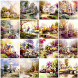 HUACAN 5D Diamond Painting Full Square House Sale Diamond Art Embroidery Scenery Decoration For Home Gift