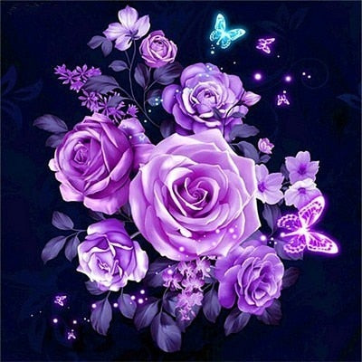 HUACAN Full Square 5D DIY Diamond Embroidery Flower Picture Of Rhinestone Diamond Painting Rose Mosaic Home Decor Gift 1
