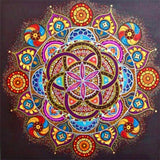 HUACAN Full Square Diamond Painting Flower Mandala 5D DIY Diamond Embroidery Art Kit Home Decor