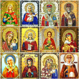 Huacan 5D Diamond Painting Virgin Mary Pictures By Rhinestones Mosaic Religion Icon Full Square Kit Diamond Embroidery 1