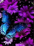 Huacan DIY Diamond Painting Butterfly And Flower 5D Full Square Rhinestone Diamond Embroidery  Mosaic Cross Stitch Home Decor