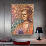 Huacan Diamond Painting Buddha New Square Stones Diamond Embroidery Full Drill Home Decoration Diamond Mosaic Sale 5d Needlework