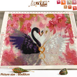 Huacan Diamond Painting Swan 5D DIY Diamond Embroidery Full Display Animal Rhinestones Full Square Mosaic Home Decor Gift