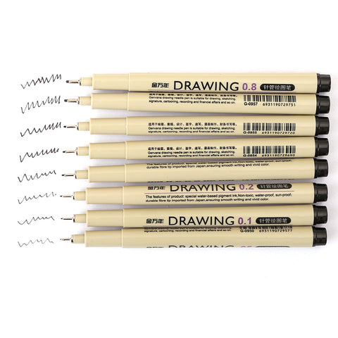 Needle Marker Drawing Pens 8 Pack
