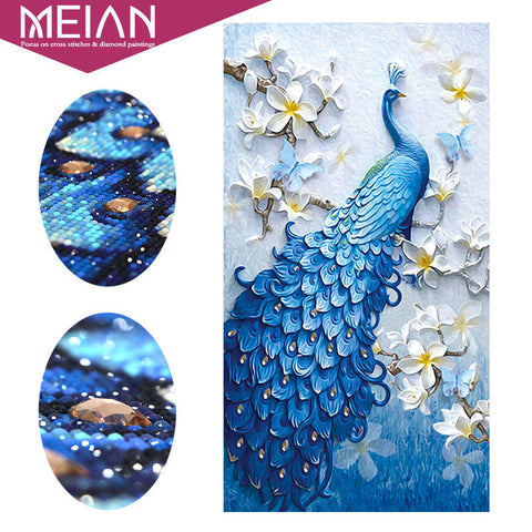 3D Peacock Diamond Painting Kit
